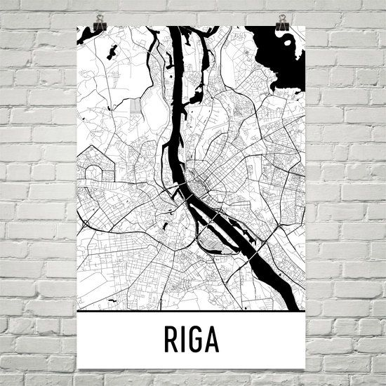 ЛАТВИЯ, РИГА Riga Map Art Print, Riga Latvia Art Poster, Riga Wall Art, Riga Gift, Riga Poster, Riga Print, Map of Riga, Birthday, Decor, Modern, Art