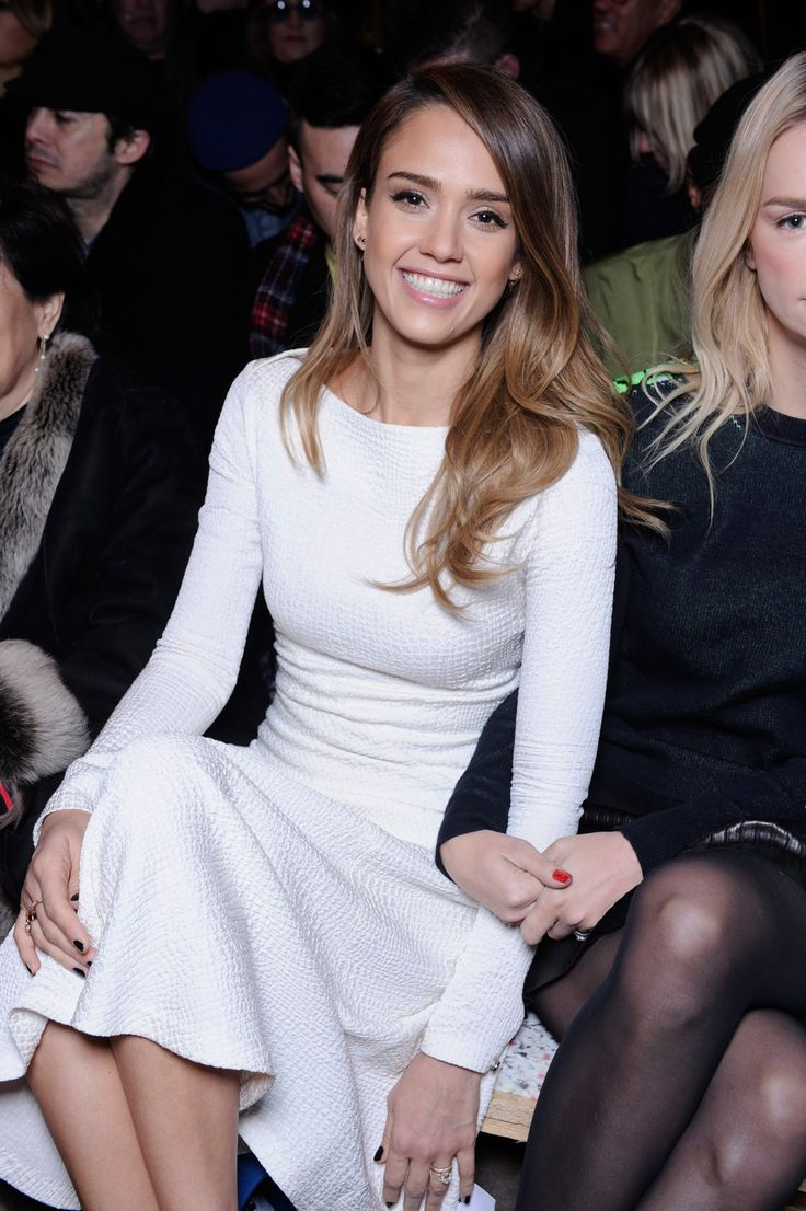 Jessica Alba, Paris Fashion Week's #1 Style Star? Mais Oui!  #refinery29  http://www.refinery29.com/2013/03/44076/jessica-alba-paris-fashion-week-pictures#slide5  Sitting front row at Kenzo's fall '13 show wearing a pre-fall dress by the brand. Photo: Courtesy of Kenzo.