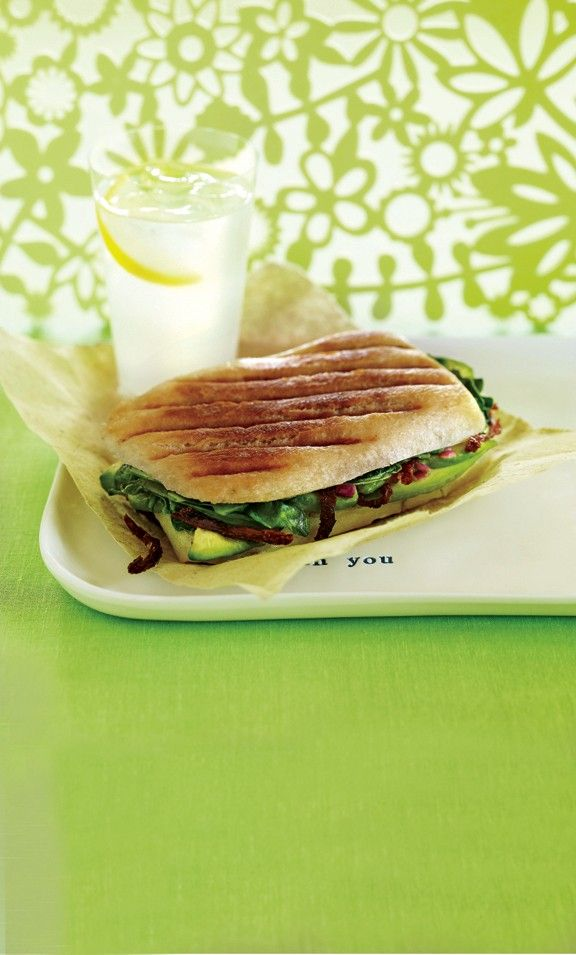 Avocado-Spinach Panini Recipe | Vegetarian Times