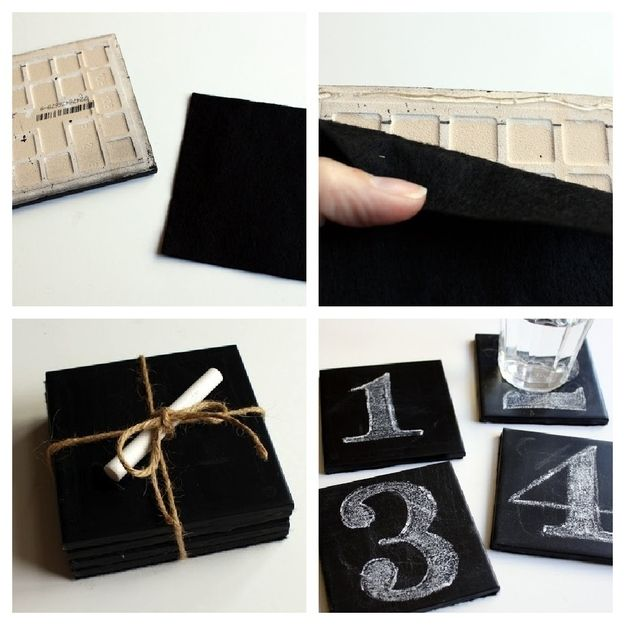 19. Coasters | 33 Things You Can Turn Into Chalkboards