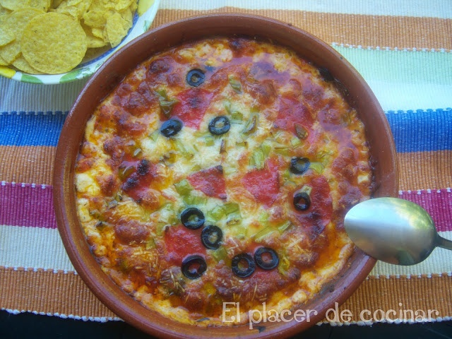 EL PLACER DE COCINAR: DIP DE PIZZA