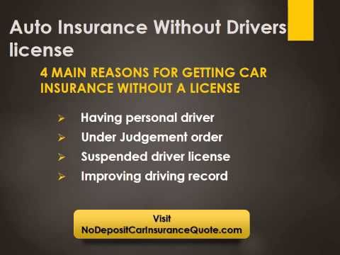 Car Insurance Quotes Without Driver License