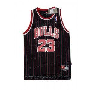 Mens Chicago Bulls Michael Jordan Number 23 Jersey Stripe Black http://www.supernbajerseys.com/mens-chicago-bulls-michael-jordan-number-23-jersey-stripe-black.html