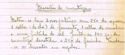 As Receitas da Avó Helena e da Avó Eduarda: Biscoitos de Manteiga