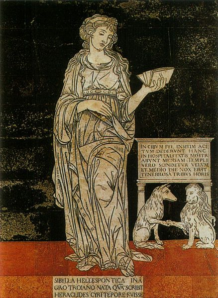 Sybilla Ellespontica. Serie della Sibille (1482-1483), Pavimento del Duomo di Siena.