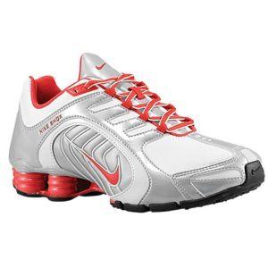 Nike Shox Navina SI - Women\u0027s - White/Hyper Red/Metallic Platinum