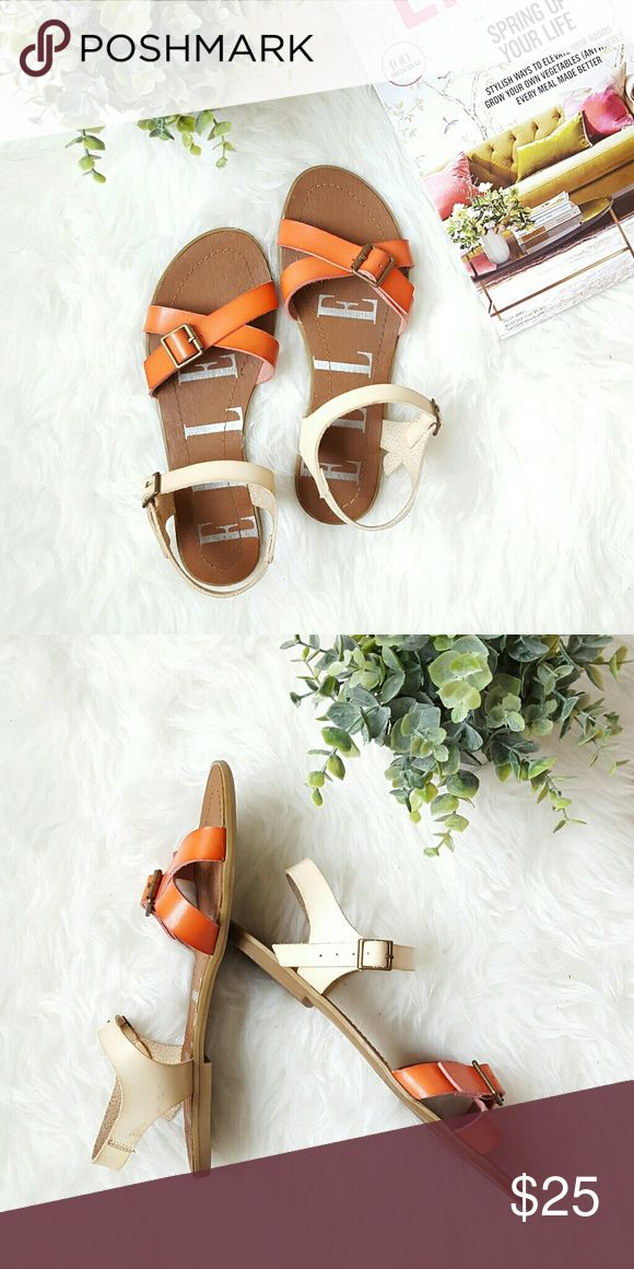 {Elle} Criss Cross Buckle Sandals -Worn 2-3 times  -Great condition & great quality Elle Shoes Sandals