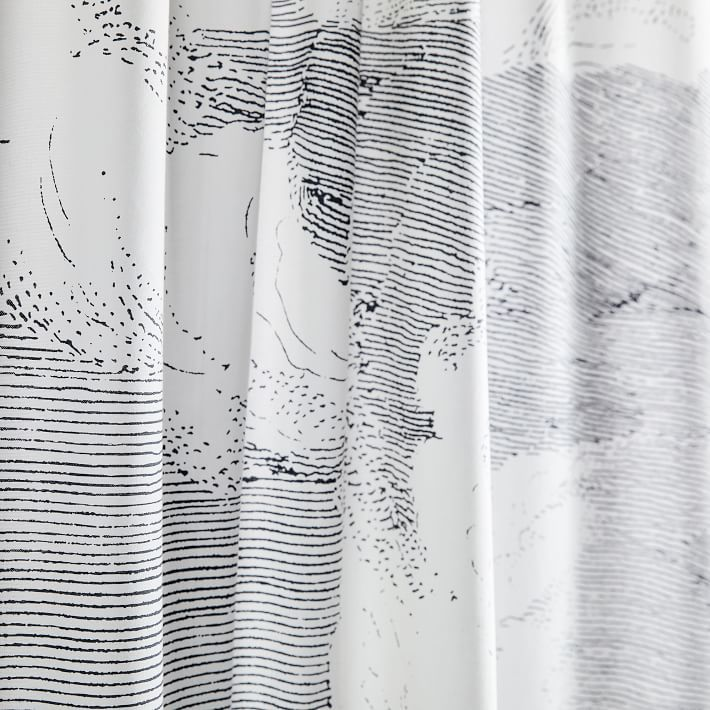 Organic Cloud Shower Curtain Scandinavian Shower Curtains