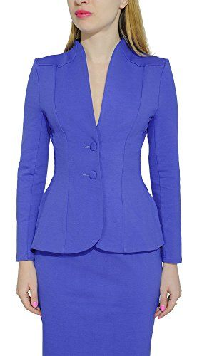 eb28f2223 Amazon.com: Marycrafts Women's Formal Office Business Work Jacket Skirt  Suit Set: Clothing