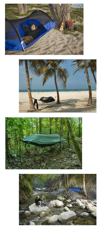 Gadget: Camping Hammock: hangmat en tent ineen - Nieuws - Droomplekken