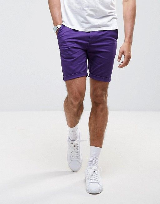 ASOS Skinny Shorts in Purple