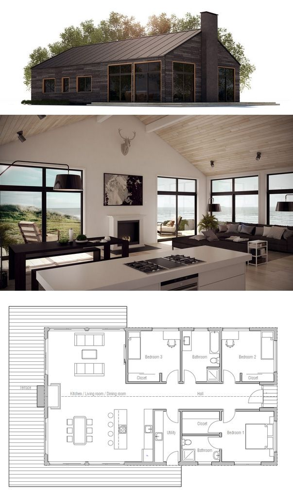 House plan modern farmhouse home sweet home pinterest for Farmhouse floorplan