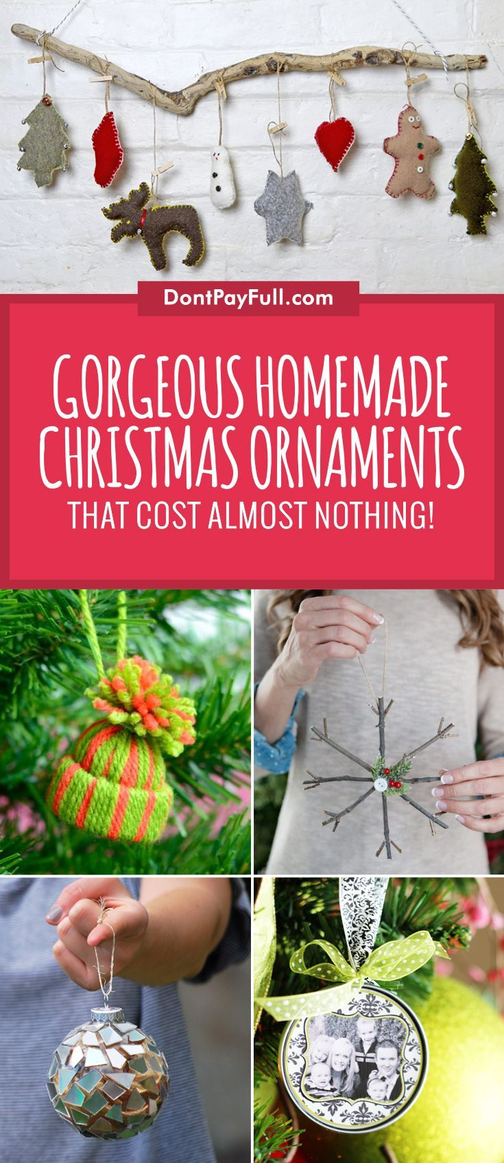 20 Absolutely Gorgeous Homemade Christmas Ornaments That Cost Almost Nothing #DontPayFull