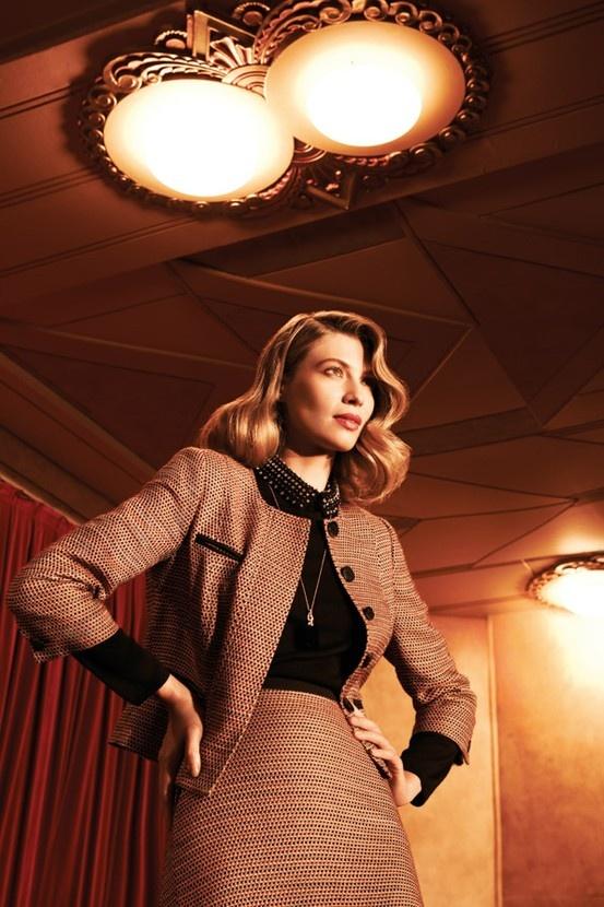 David Lawrence 3 pocket tweed jacket, $269; retro tweed skirt, $139; Jigsaw beaded collar knit, $189; Sportsgirl Future pendant, $12.95