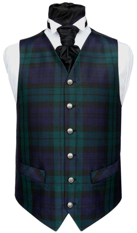 Black Watch Tartan Vest Groomsmen My Style