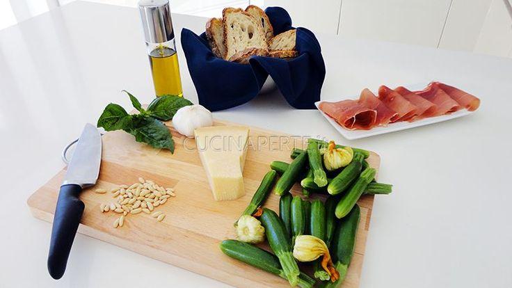 Bruschetta con Pesto di Zucchine - Cucina per Te