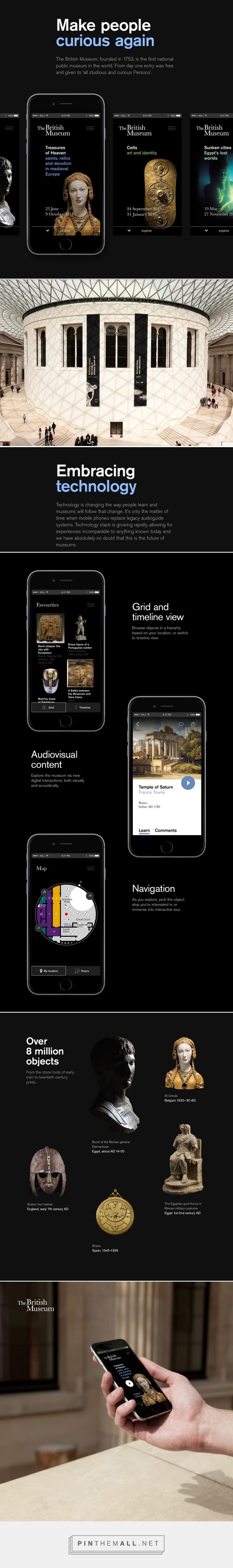 British Museum - iOS App Concept | Abduzeedo Design Inspiration - created via https://pinthemall.net