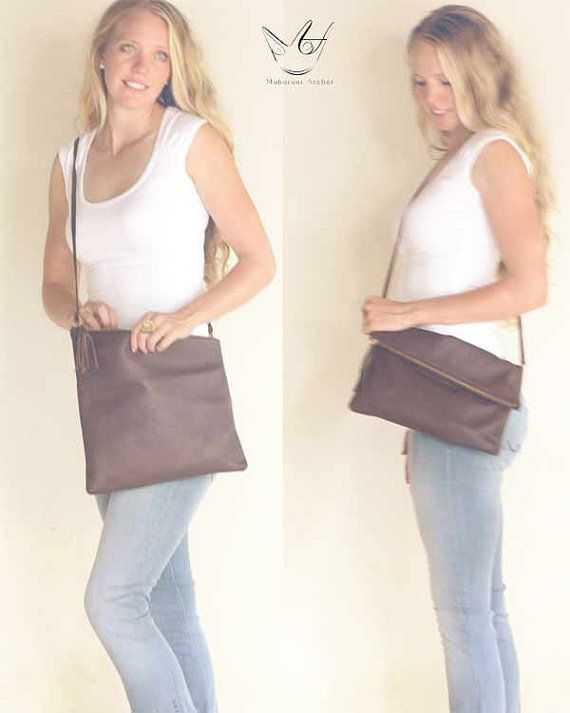 Leather Crossbody Bag, Three-Way Bag (a cross body, clutch, crossbody clutch!) #leatherbag #chicbag #unique #fashion #style #chic #bag
