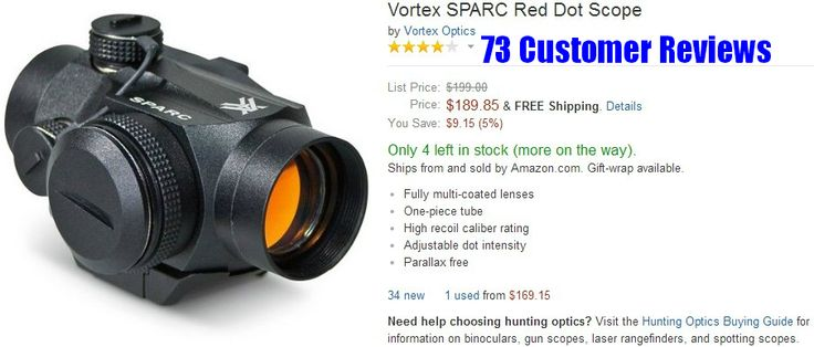 AR 15 Scopes - Vortex SPARC Red Dot Scope