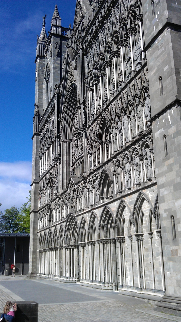 Nidarosdomen cathedral in Trondheim. The target of many pilgrims annually.