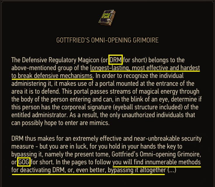 CD Projekt Red's opinion of DRM. [The Witcher 3]