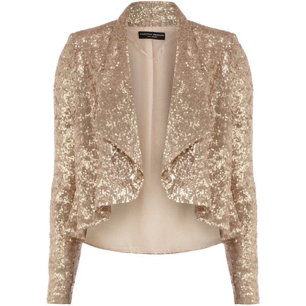 Rose gold sequin jacket ($89) ❤ liked on Polyvore