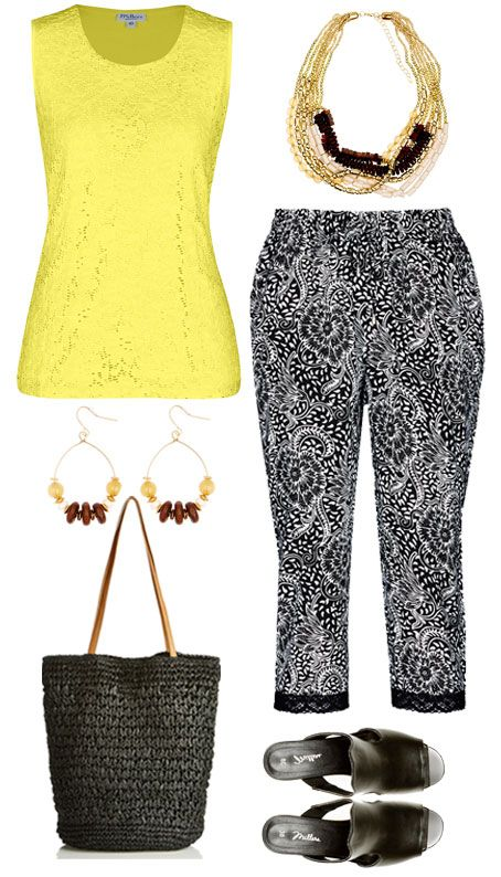 Lace tops and soft pants are a gorgeous combo! Add a pop of bright colour to liven up your look and you'll be ready for your next day or evening event!