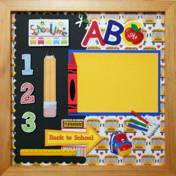 BACK TO SCHOOL Memory Album Page Natural Veneer by theshadowbox, $15.00
