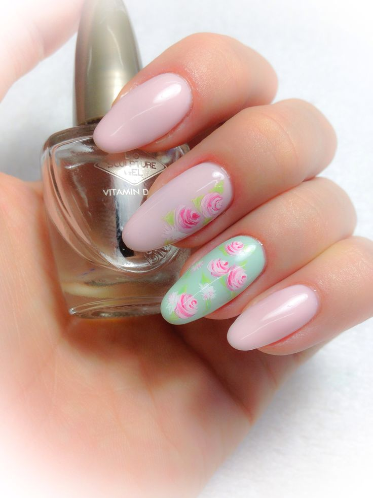 mint gel nails ideas