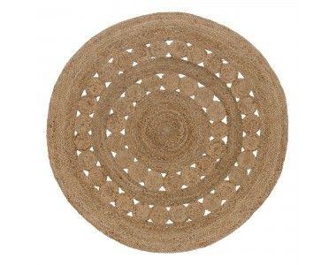 Unser Teppich Asele verbindet höchste Qualitätsansprüche mit sommerlichem Design. Aus 100% Jute von Hand in Leinwandbindung gefertigt ist der runde Teppich eine schöne Ergänzung für Wohnräume als auch Ihren Balkon oder Terrasse. Das aufwendig eingearbeitete Kreismuster kreiert eine charmante Atmosphäre, die auch gut in Ihr Zuhause passt.