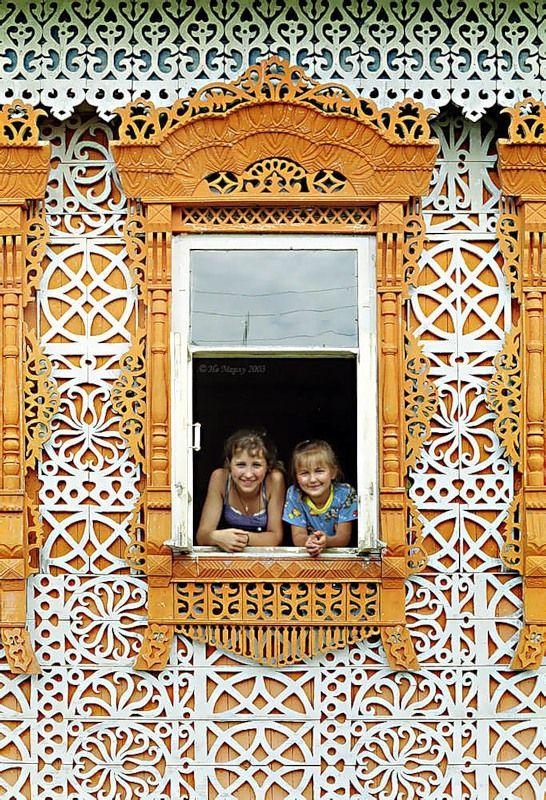 Дом Муратова (1960), Ивановская обл./Сarved house, Ivanovo oblast, Russia