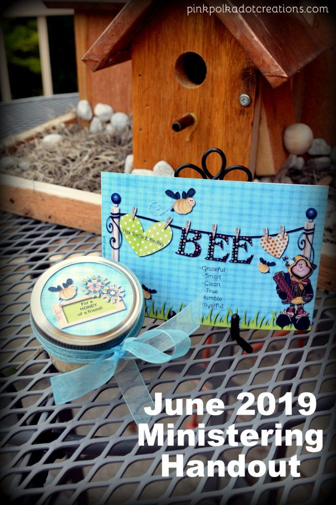 Ideas For Visiting Teaching June 2019 June 2019 Ministering Handouts | Pink Polka Dot Creations
