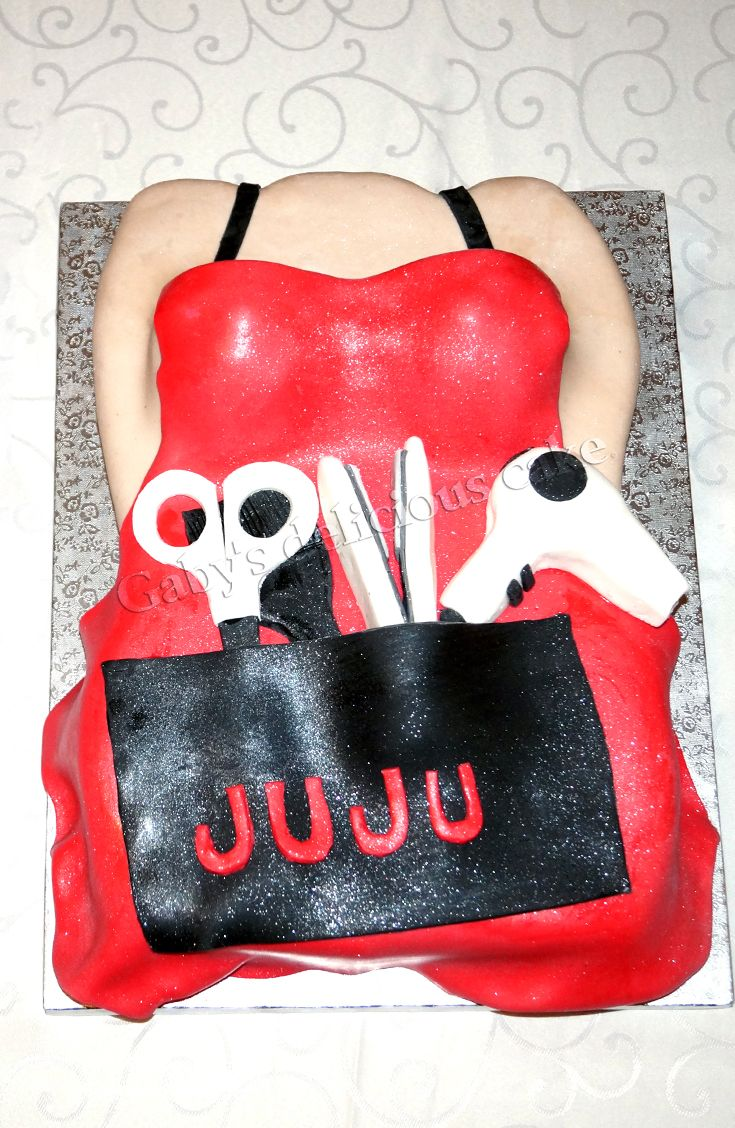 Gâteau thème coiffeuse #hairdresser#cakedesignfashion