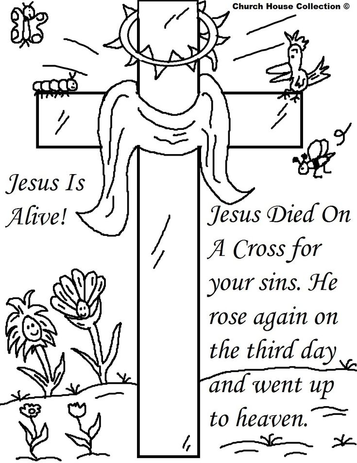 13 best Religious Easter Coloring Pages images on Pinterest | Easter ...