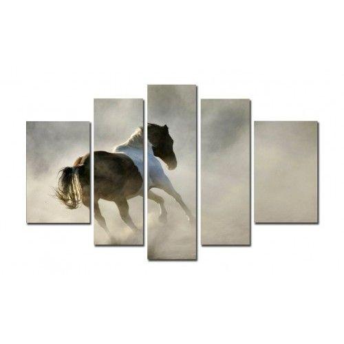 5 Parça Kanvas Tablo - Atlar - 5B140319 99 TL Sanalpazar.com'da