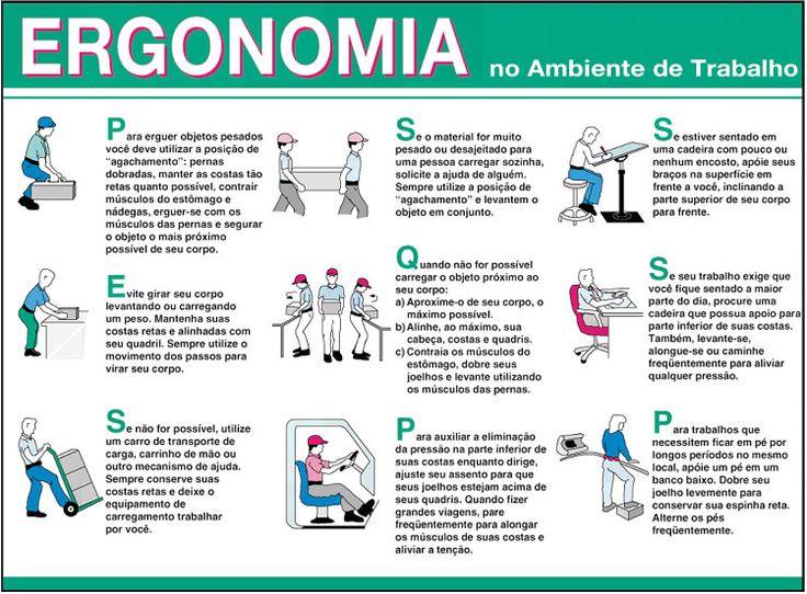 Dicas de seguran a no trabalho ergonomia pesquisa google for Normas de ergonomia