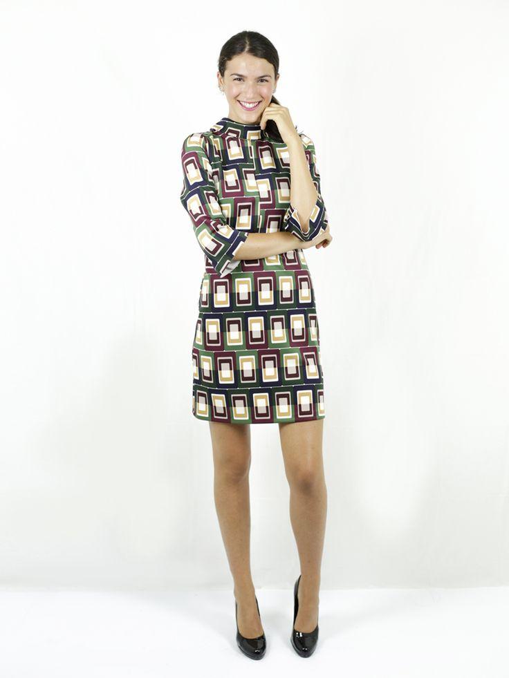 abito geometrico - compagnia italiana - abbigliamento donna - luanfashionstore