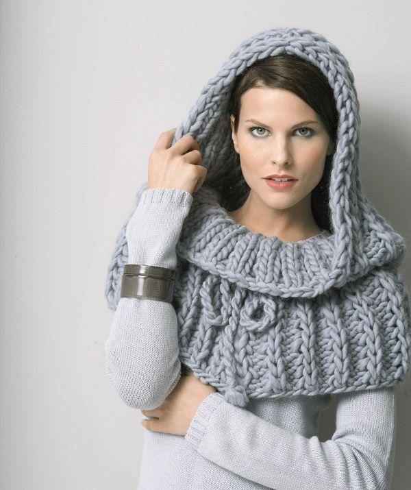 Ladies' Hooded Cape In Highland Alpaca - free pattern