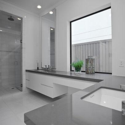 Bathroom Black White Grey Granite Countertops Design Ideas, Pictures, Remodel, and Decor