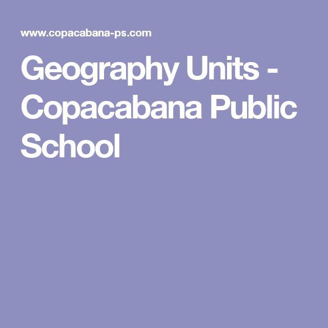 Geography Units - Copacabana Public School