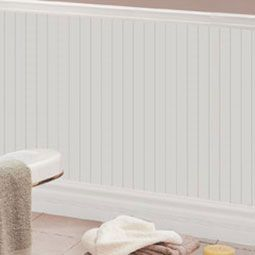 Pre-Finished Beadboard Wainscoting 52-H-x-96-L-Colonial-Beadboard-Wainscot-Paneling--Adjustable-for-heights-52--to-37---White