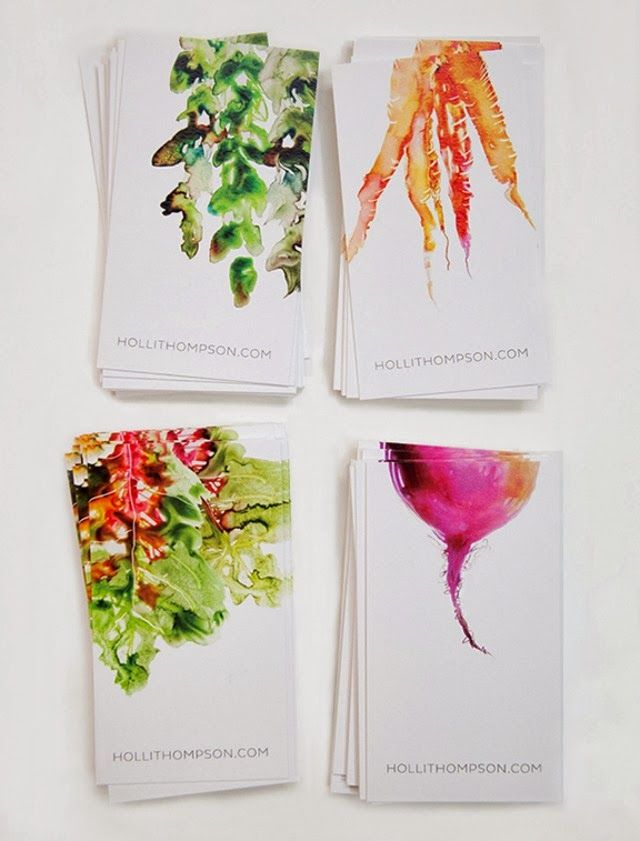 I love the artwork on these business cards!