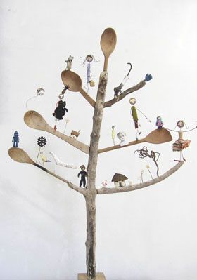 Edwina Bridgeman - Tree of Life I think that this type of tree would be a great support for small carved birds!