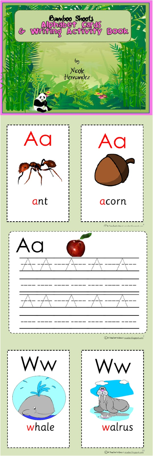 My Writing Resources This 80 Page Alphabet Card And