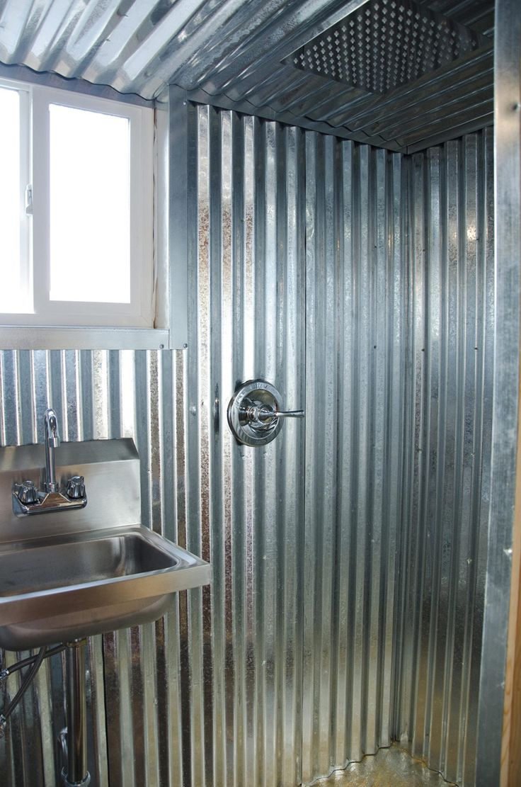 17 best images about shower and bath on pinterest glass for Tiny house tub shower