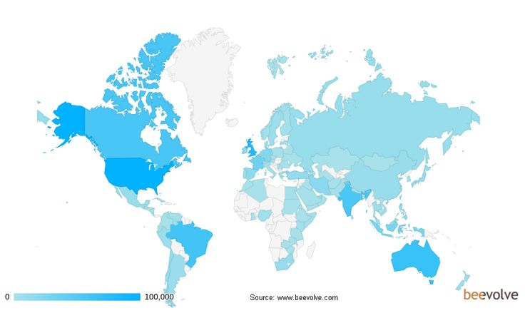 An Exhaustive Study of #Twitter Users Across the World