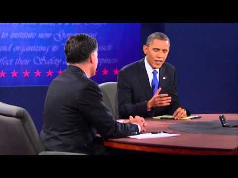 'We also have fewer horses and bayonets': The moment Obama lands zinger against Romney on military spending