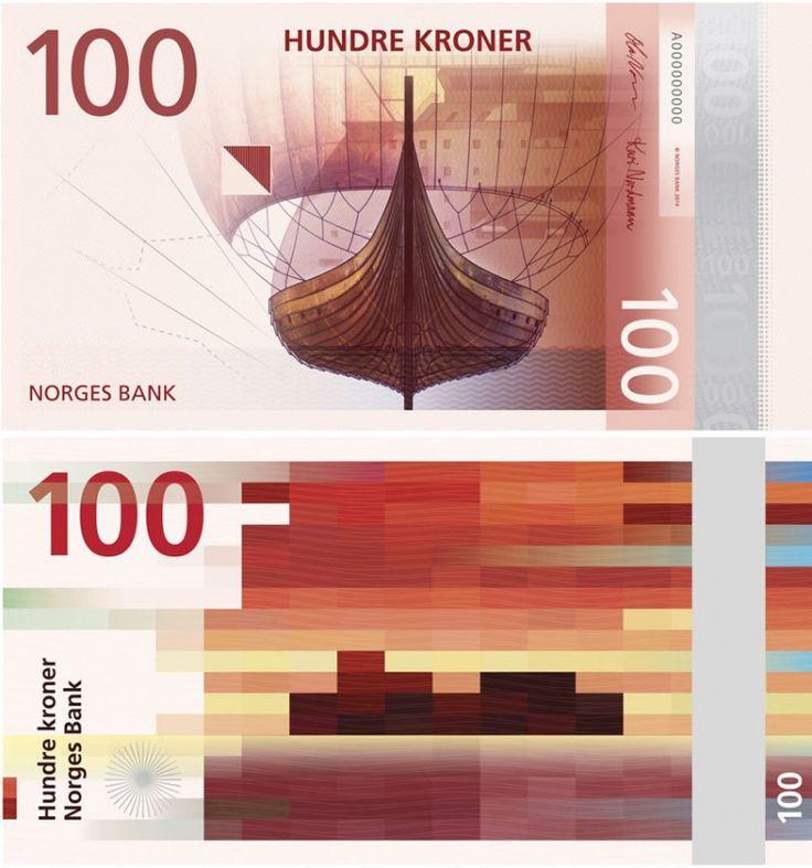 Nice! Dit is het nieuwe gepixelde briefgeld van Noorwegen -   Want.nl