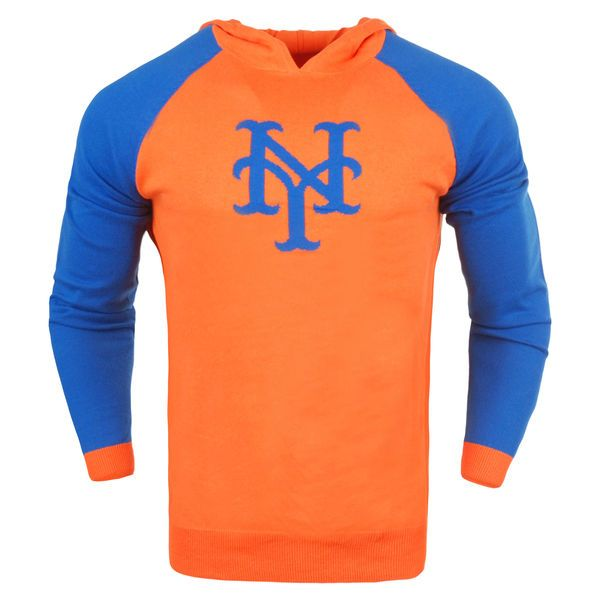 New York Mets Team Logo Pullover Hoodie - Orange - $54.99