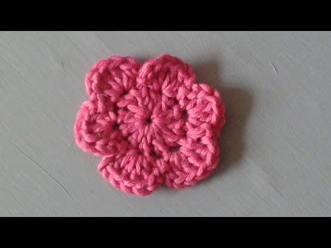 Einfache Blume häkeln - Anleitung - YouTube